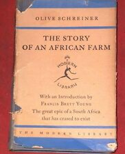 THE STORY OF AN AFRICAN FARM  ~ Vintage book 1927? ~ OLIVE SCHREINER ~ H/C D/J