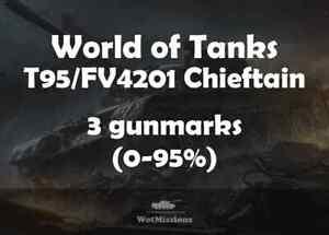 World of tanks | Gunmarks | MoE | T95 / FV4201 Chieftain | 1st + 2nd + 3rd mark