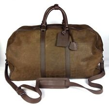 100% Authentic BAMFORD & SONS Croc Embossed Weekender Duffle Bag MINT