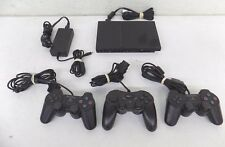 Sony PlayStation 2 Slim Console w/3 Controllers EXCELLENT Fast Shipping LOOK