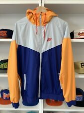 Mens Nike Sportswear Windbreaker Hoody Sz L Jacket Multicolor Zip Athletic