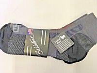 Ascend Hiker Quarter 2.0 Bass Pro Shop socks Gray/orange  Large Pack of 2 pairs