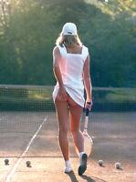 Tennis Girl Ready Framed Canvas