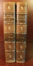 Nooks and Corners & Historic Ninepins 1867 1869 2 Volume Leather John Timbs