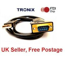 More details for usb to serial adapter ftdi - pro gold plated 50cm rs232 cable windows 7 - 10 uk