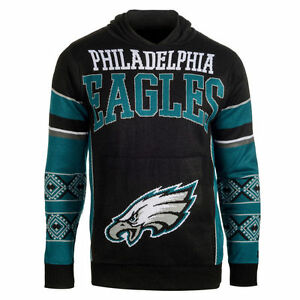Forever Collectibles Philadelphia Eagles Big Logo Ugly Sweater Pullover Hoodie