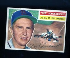 1956 Topps Baseball Card #165 Red Schoendienst St Louis Hall of Famer