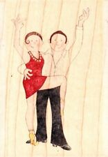 Salsa couple-Jolly Nation-Wood Mounted Rubber Stamp