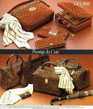 PUBLICITE ADVERTISING 116  1977   Celine sacs valises bagages  malettes de Luxe