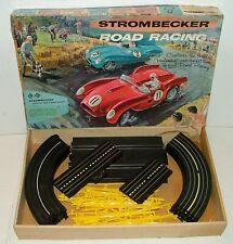 #1960s Strombecker Road Racing w 1/32 Ferarri & Jaguar Slot Cars In Box Lot#F101