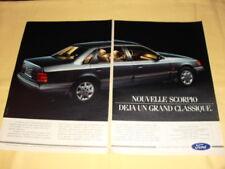 FORD Scorpio Publicité Advertising (2 pages)