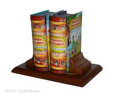 Bible Pour Enfants Ancien Nouveau Testament miniature book hardcover set w stand