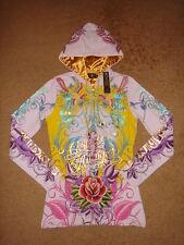 Christian Audigier Platinum Rhinestone Women Hoodie Jacket Ed Hardy Hoody SEXY