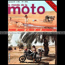 LE MONDE DE LA MOTO N°75 YAMAHA XT 500 SUZUKI 125 50 ER 21 JOSEPH DELABARRE 1981