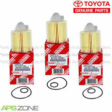 GENUINE TOYOTA LEXUS OIL FILTER SET OF 3 WITH DRAIN PLUG GASKET OEM 04152-YZZA1