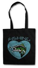 Fishing Shopper Shopping Bag fishing Fisher Gone fishing rod pole sea River