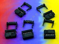 Stk.5x IDC 10 (2x5) polig/way Stecker - für Flachbandkabel / Ribbon 2.54mm #A152
