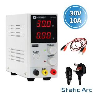 ADJUSTABLE POWER SUPPLY 30V 10A SWITCHING DC DIGITAL LED PRECISION LAB VARIABLE