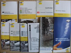 10 Belgian Bus & Tram Timetables Maps Leaflets 2004 - 2009 De Lijn Set 5