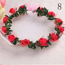Flower headband Kids Party Wedding Floral Adjustable Hair Accessories Top W&T