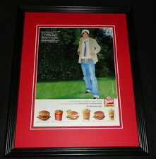 Wendy's 2006 Super Value Menu 11x14 Framed ORIGINAL Advertisement