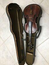 Vintage Antique Violin Bow & Case from Civil War Era