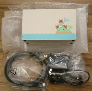 Authentic Nintendo Switch Animal Crossing Edition Dock w/ Charger + HDMI Cable