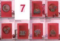 7 PRETTY PINK CARDS -     CROSS STITCH PATTERN  4E01K