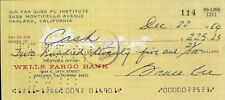 BRUCE LEE Signed Check / Cheque - KUNG FU Champion and Actor - preprint