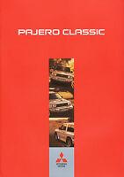 Mitsubishi Pajero Classic Prospekt 2003 4/03 brochure prospectus broschyr Auto