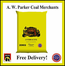 Welsh SMALL Anthracite Smokeless fuel coal half tonne prepacked 25 x 20kg