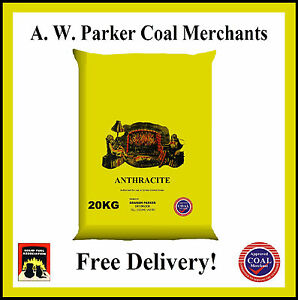 Premium Welsh LARGE Anthracite Smokeless fuel coal 300kg prepacked 15 x 20kg