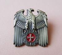 Pin ADLER und Eisernes Kreuz EK Messingfarben Kreuz Krieg - 348 A