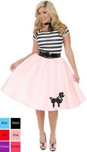 Charades Striped Sequin Poodle Dress 50's Adult Costume