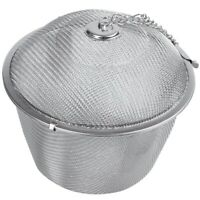 Extra Large Stainless Steel Twist Lock Mesh Tea Ball Tea Infuser with Hook H9Z5