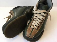 Women's DR DOC MARTENS DM'S Brown Leather Boots 9793 Size 6 US Green/Tan