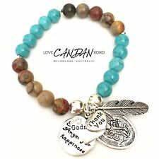 Saint Michael GodMother Thank You Guardian Angel Happiness Gifts Charms Bracelet