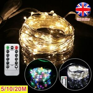 USB Plug In 50/100/200LED Fairy String Lights DIY Micro Copper Wire Xmas Party