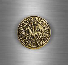 Autocollant sticker ordre de malte templier sceau croisades templar crusader