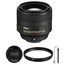 Nikon AF-S Nikkor 85mm f/1.8G Nikkor Lens + accessories for Nikon DSLR Cameras