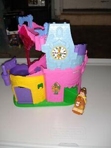 Little People Disney Princess Klip Klop Musical Castle with Belle.