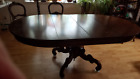 Vintage Large Victorian Mahogany Dining Table w Massive Carved Base