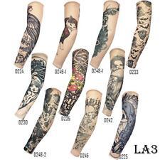 Fashion Nylon Temporary Tattoo Sleeve Arm Stockings Tatoo For Men Women 10 PCS