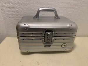 RIMOWA LUFTHANSA Kosmetikkoffer Koffer Trolley Beauty Case Aluminium Silber