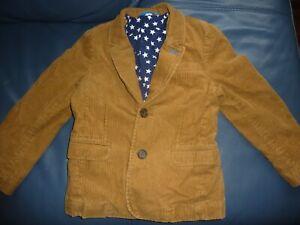 Mini Boden boys camel brown Corduroy Blazer Jacket  Age 7-8 VGC
