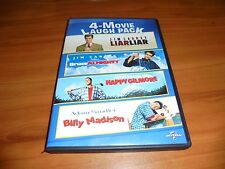Liar Liar/Bruce Almighty/Happy Gilmore/Billy Madison (DVD 2015 2-Disc) Used
