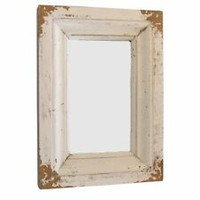 Spiegel Holz Retro-Look H 36cm Retrospiegel Wandspiegel Antikspiegel Holzspiegel