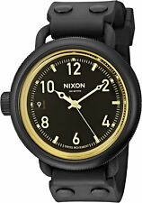 Nixon Men's A488-1354-00 October 48.5mm Matte Black Orange Tint A4881354