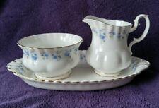 Royal Albert Memory Lane Sugar Bowl & Creamer w/tray