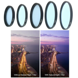 Pure Natural Clear Night Lens Filter for Sony Fuji Olympus 46 49 52 58 67 77 82